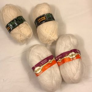🧶Lot of 4 vintage mohair and wool blend yarn 🧶